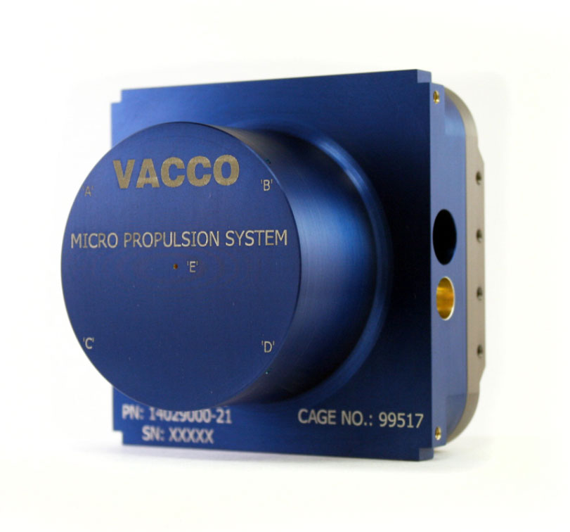 End-Mounted Standard CubeSat Micro-Propulsion System | VACCO